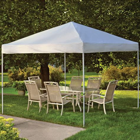 tent backyard shelterlogic backyard pop up canopy 10 x 10 in canopies