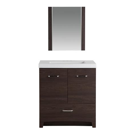 glacier bay stancliff 30 5 in w vanity in elm ember with