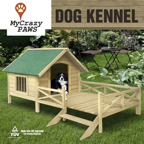 large dog house with porch extra large pet dog house timber house wooden with porch deck my crazy paws online pet store