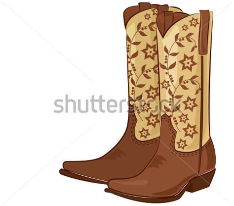 Imagenes De Botas Vaqueras En Caricatura   botas de vaquero dibujo imagui