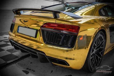 Auto Lackieren Dortmund by Audi R8 Gold Chrom Folierung Check Matt Dortmund Tuning 7