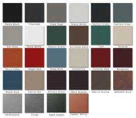 roofing colors standing seam metal roof colors roselawnlutheran