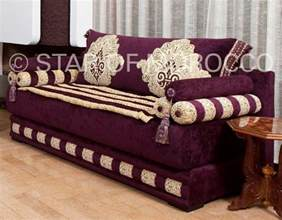 Moroccan Style Sofa Purple Gold Moroccan Living Room