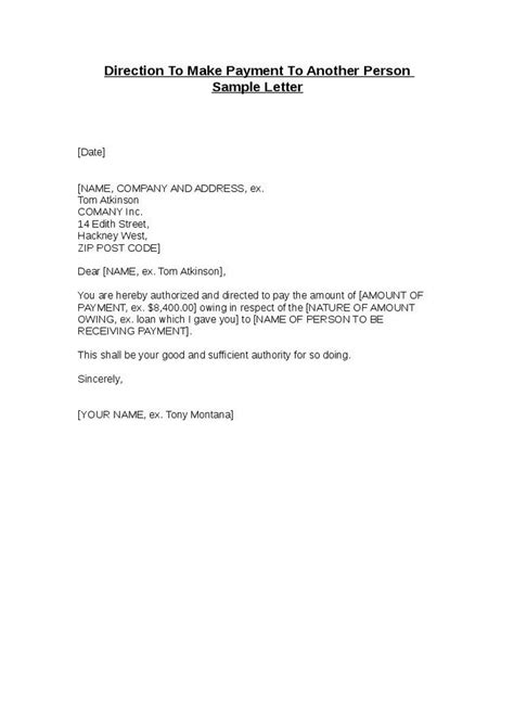 Mortgage Broker Letter Of Direction Direction To Make Payment To Another Person Sle Letter Hashdoc
