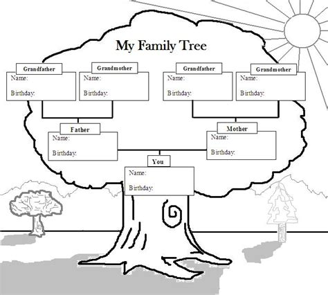printable family tree with aunts and uncles free coloring pages of aunts uncles cousins
