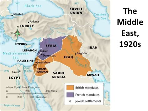middle east map in 1920 between the world wars