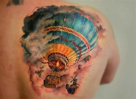 tattoo meaning hot air balloon 24 hot air balloon tattoos with uplifting meanings