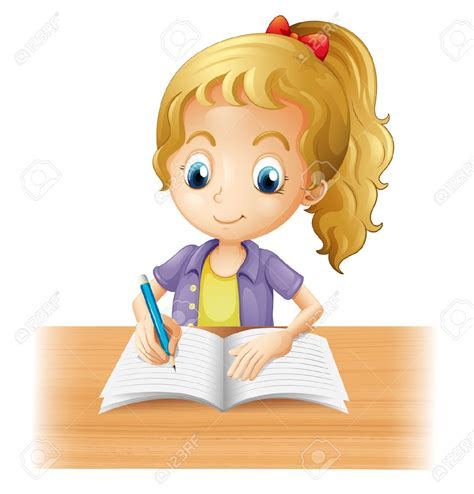 Child S Writing Desk Cartoon Writing Clipart 61