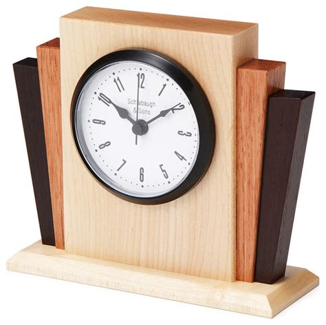 Handmade Wood Clocks - inova team rustic wooden handmade deco desktop clock