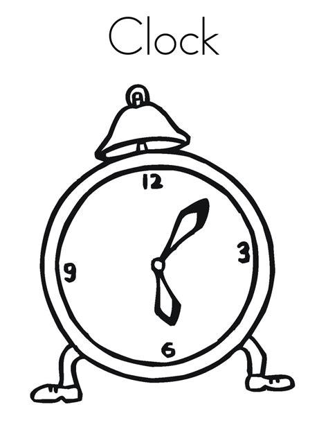 printable clock pages free printable clock coloring pages for kids