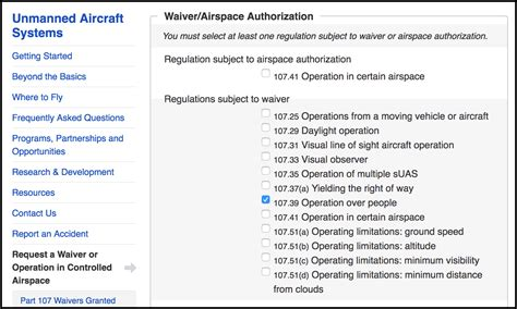 request  waiver  flying  people drone