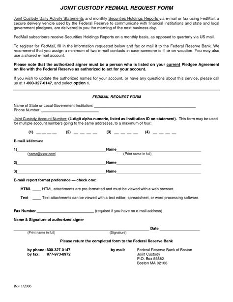 Agreement Letter Sle For Child Custody Custody Agreement Template 28 Images 10 Custody Agreement Templates Free Sle Exle Custody