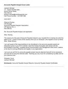 Accounts Payable Analyst Cover Letter by Pin Sle Accounts Payable Confirmation Letter Submited Images Pic 2 On