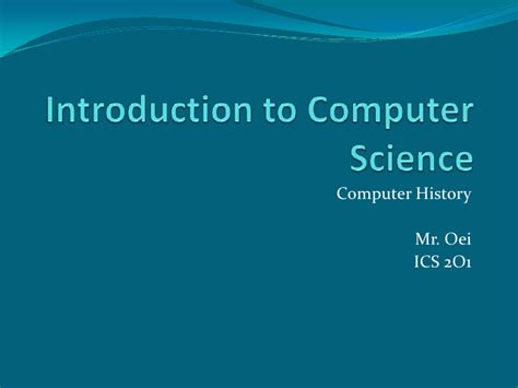Computer Science Css Intro introduction to computer science