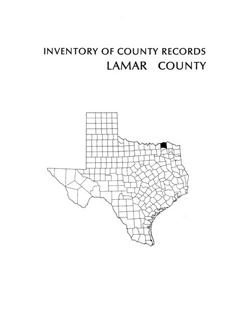 Lamar County Records Inventory Of County Records Lamar County Courthouse