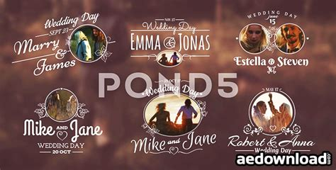 wedding title templates for after effects free wedding titles after effects template pond5 free