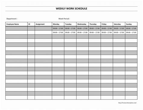 sle goal work schedule templates excel analysis