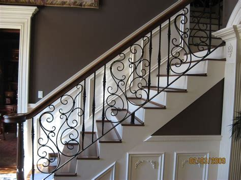 Metal Banister by 17 Best Ideas About Wrought Iron Stairs On