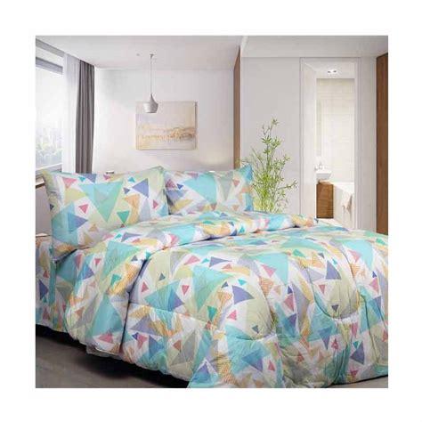 Bedcover Dan Sprei jual pazzio set bedcover dan sprei biru harga kualitas terjamin blibli