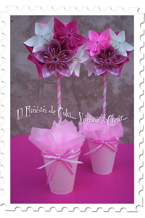 Flores De Origami - topiario con flores de origami centro de mesas