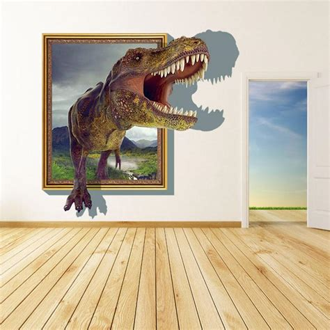 to see wall stickers 2015 3d wall stickers for rooms boys dinosaur decals for baby room decor