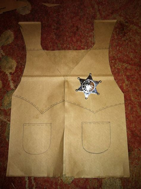 How To Make A Paper Vest - i made these vests for my cowboy brown paper