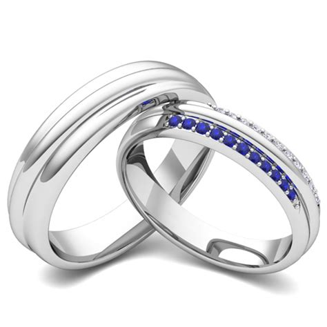 create matching wedding ring band for him and diamonds