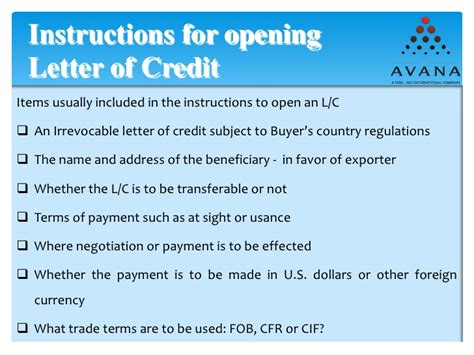 Letter Of Credit Nominated Bank export documentations