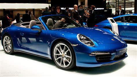 blue porsche convertible paris 2012 porsche 911 carrera4 cabriolet live photos