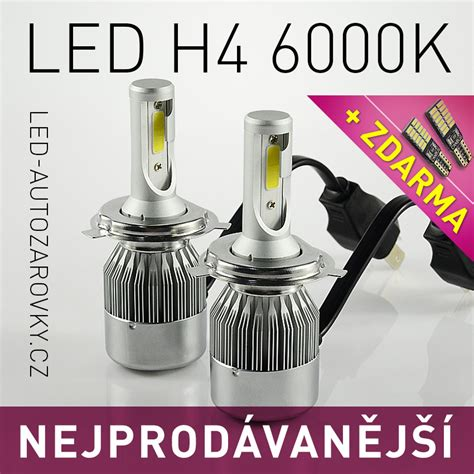 Led C6 H4 6000k led headlight akce c6 led headlight h4 6000k 36w