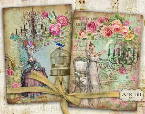 Decoupage Poster To Wood - 5x7 inch size images decoupage printable