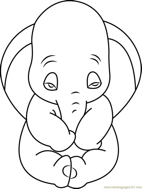 Sad Dumbo Coloring Page Free Dumbo Coloring Pages Sad Coloring Page