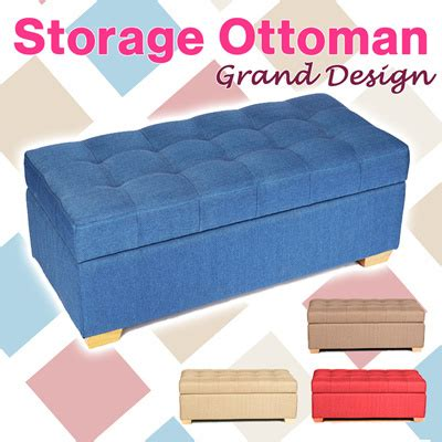 storage ottoman singapore qoo10 canvas storage stool wood ottoman storage box