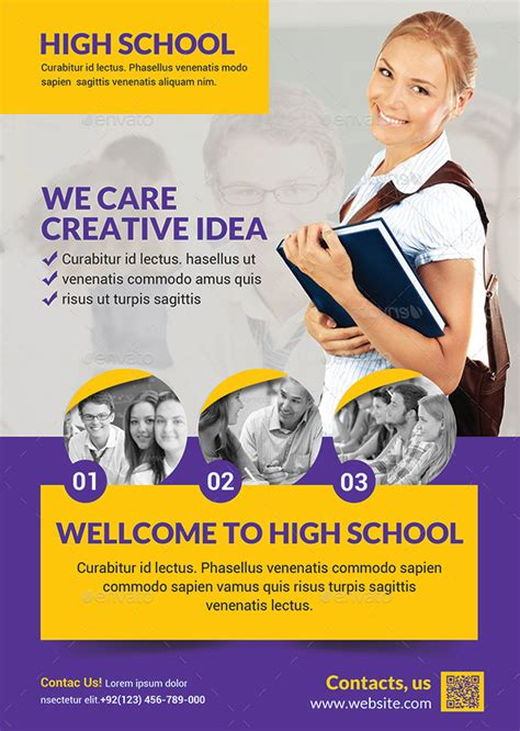 templates for school flyers high school flyer by afjamaal graphicriver