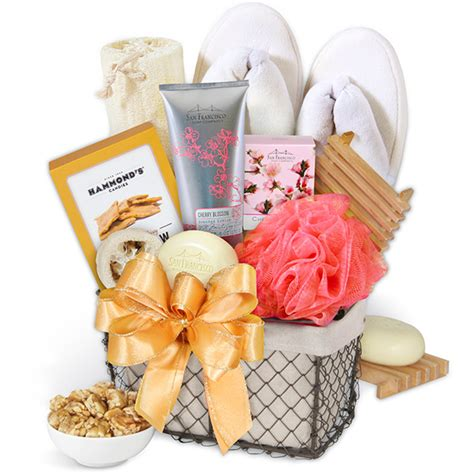 bathroom gift ideas bath snack gift basket by gourmetgiftbaskets com