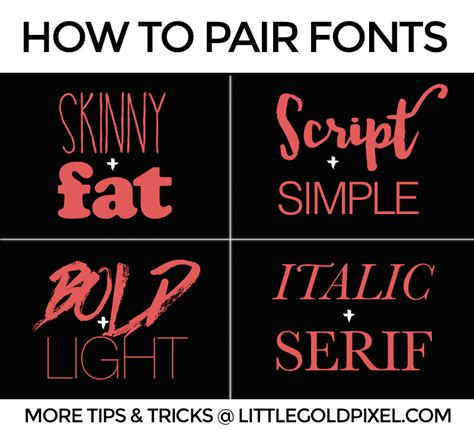 design font rules 5 simple font rules design how to little gold pixel