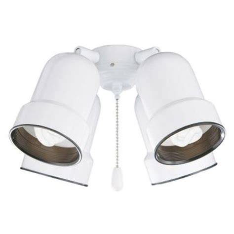 illumine zephyr 4 light appliance white ceiling fan light