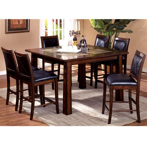 High Dining Room Table Sets by Livingston Counter Height Dining Set By Leisure Select