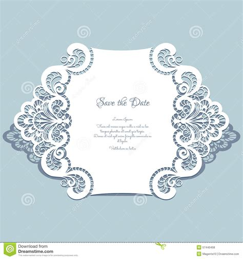 paper lace templates card paper lace card stock vector image 57440458