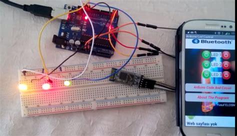 arduinoandroid bluetooth led kontrol roboturkacom