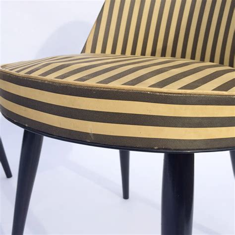 black and white armchairs mid century black and white striped armchairs galleria62