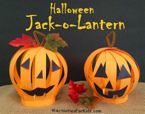 O Lantern Paper Craft - paper o lantern craft activity activities