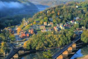 Overlook of harpers ferry from the popular maryland heights trail