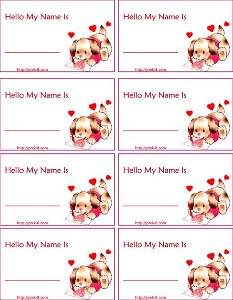 free printable valentine name tags 9 best images of cute valentine s day printable templates