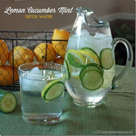 Detox Water Cucumber Lemon Mint detox water lemon cucumber mint recipe
