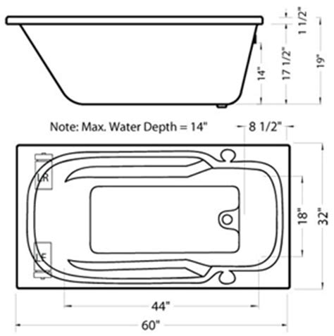 Standard Size Bathtub With Jets Nb401 Standard Size Whirlpool Bath Tub Bathtub W Jets Ebay