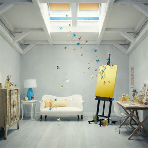 home art gallery design artist studio contemporary charlotte by velux