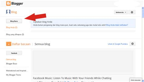 tutorial membuat blog di blogger 5 masuklah dengan akun gmail yang sudah kalian buat tadi