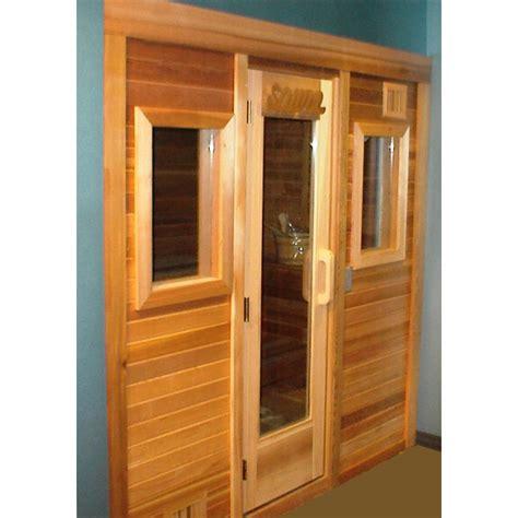 diy sauna kit 4 x6 freestanding pre fab sauna kit clear t g front windows