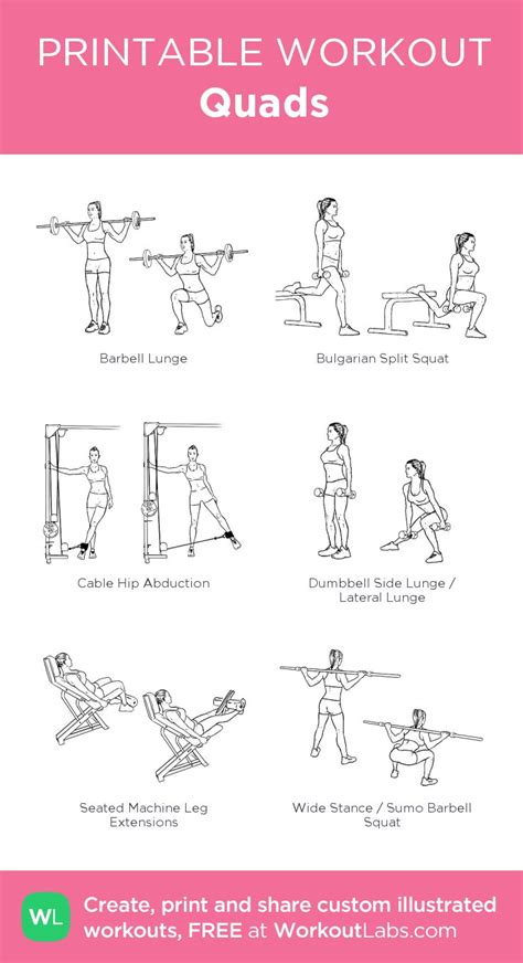 printable workout instructions 17 best images about workouts legs and butt on